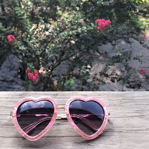Heart Shaped Sparkle Sunglasses
